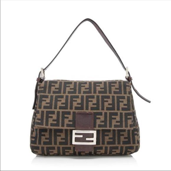 878db23c827a Fendi Handbags - Authentic Fendi Zucca Mama Baguette
